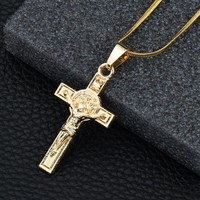 Jewelry Stylish Gift New Arrival Shiny Alloy Cross Rack Necklace [10768846659]