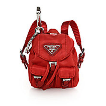 Prada - Vela Backpack Keychain - Saks Fifth Avenue Mobile