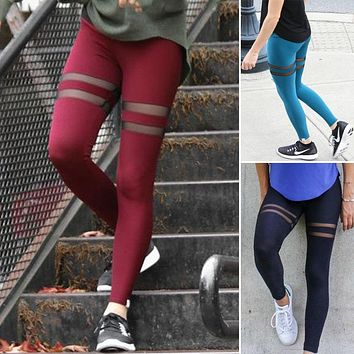 Leggings Fitness Leggings Women Women Ladies Leggings Mesh Workout Skinny Fashion