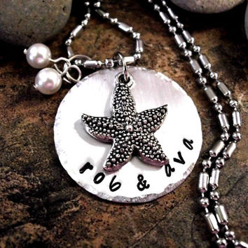 Starfish Jewelry, Starfish Necklace, Personalized Necklace, Ocean Jewelry, Wedding Jewelry, Sweetheart Jewelry, Starfish Jewelry