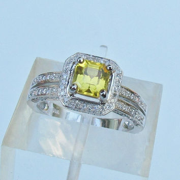RESERVED Final Payment for Custom Order Double Shank 14k Gold and Diamond Halo Ring to be Set with Moissanite