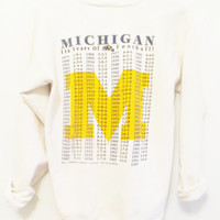 Vintage 1990's Retro Michigan Football Sweatshirt