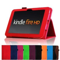 """Fintie Kindle Fire HD 7"""" (2012 Old Model) Slim Fit Leather Case with Auto Sleep/Wake Feature (will only fit Amazon Kindle Fire HD 7, Previous Generation - 2nd), Red"""