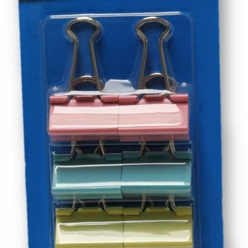 8-Pack Colored Binder Clips - CASE OF 48