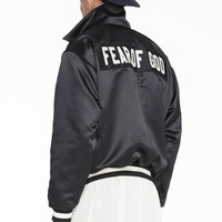 FOG Fear of God Letter embroidery motorcycle jacket loose coat S-XL