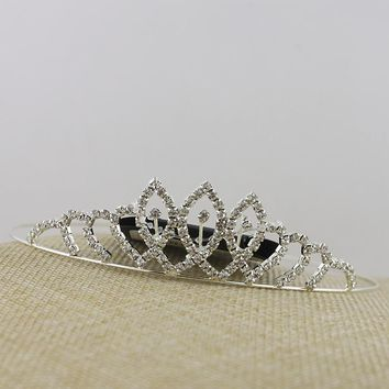 Premium exaggerated hair jewelry shiny gem headband Japan and South Korea crown hairpin full drill hollow large headdress hair decoration KC