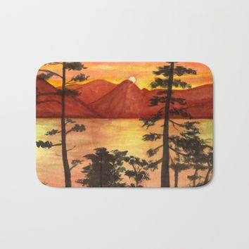 Sunset Bath Mat by Savousepate