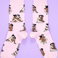 Kamasutra Couple Women's Crew Socks