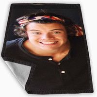 Harry Styles One Direction Bandana Blanket for Kids Blanket, Fleece Blanket Cute and Awesome Blanket for your bedding, Blanket fleece *
