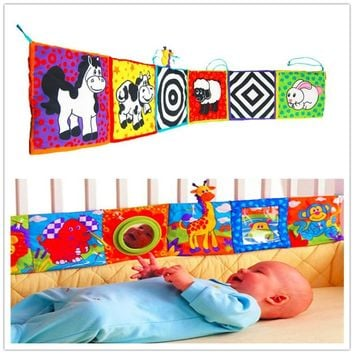 Baby Rattle Toy Baby Bed Around and Cloth Book With Animal Model Lovely Toys For Kids Bed Double Color Colorful Bed Bumper