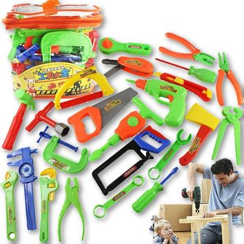 32pcs/set Tool Early Education Kids Pretend Play Simulation Repair Kit Workshop