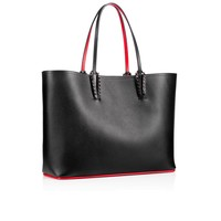 Cabata Tote Bag Black Calfskin - Handbags - Christian Louboutin