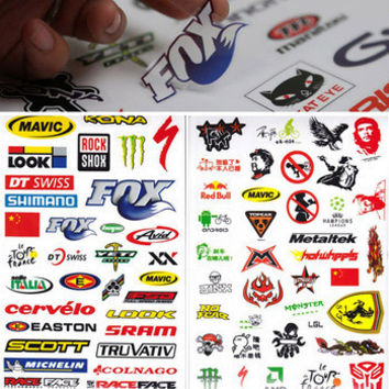 Hot Outdoor Bicycle Cycling Sticker Mountain Bike Skateboard Decal Bicycle Sticker
