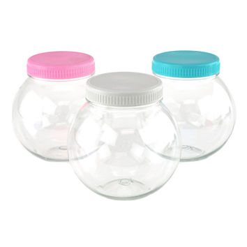 Round Plastic Favor Container w/ Lid, Medium