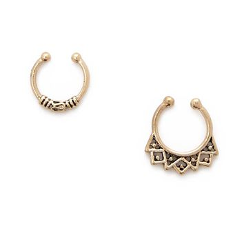 Etched Nose Ring Set