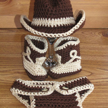 Shop Crochet Cowboy Boots On Wanelo