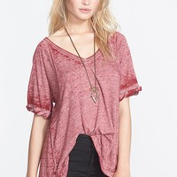 Free People 'Free Falling' Shirttail V-Neck Tee | Nordstrom