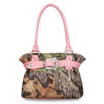 Mossy Oak Camo and Pink Handbag
