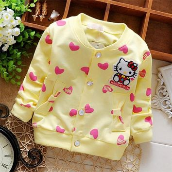 Free shipping 2016 New Spring and Autumn Kids sweater cardigan baby girls jacket children coat#Z1427
