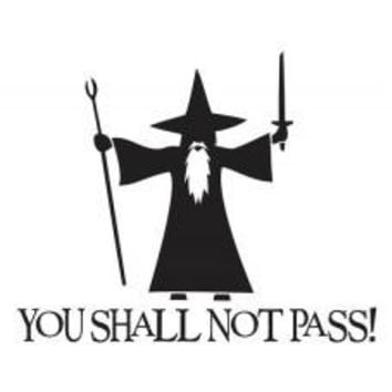 You Shall Not Pass! Holoween Tablet Decal Sticker Laptop cover Macbook Pro Apple Wall Design Decal Keyboard Design Decal Sticker Vinyl