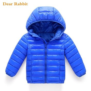 2018 new Spring Children Coat Autumn Kids Jacket Boys Outerwear enfant Coats Baby Clothes girls Lightweight down cotton Clothing