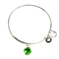 August Birthstone Charm Bangle
