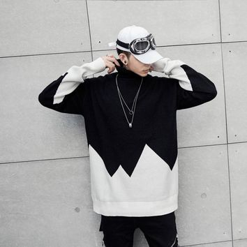 Korean Knit Men's Fashion Cotton Pullover Tops [411396014109]