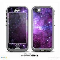 The Purple Space Neon Explosion Skin for the iPhone 5c nüüd LifeProof Case
