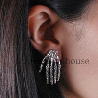 Earrings Cool Fashion Jewellery Accessories Skeleton Hand Punk Ear Gothic Hot
