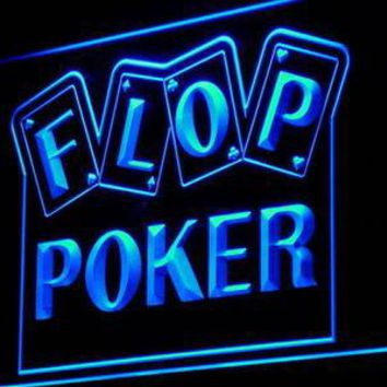 i943 Flop Poker Game Casino Display Decor Neon Light Sign On/Off Switch 7 Colors 4 Sizes