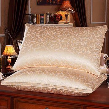 Chpermore High Quality Luxury White Goose Down Pillow Orthopedic Neck Pillows Home Hotel Memory Pillow for Sleeping
