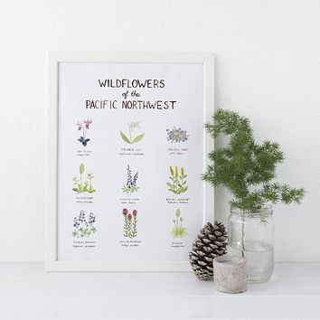 Pacific Northwest Wildflowers Art Print