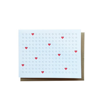 XOXO Heart Card