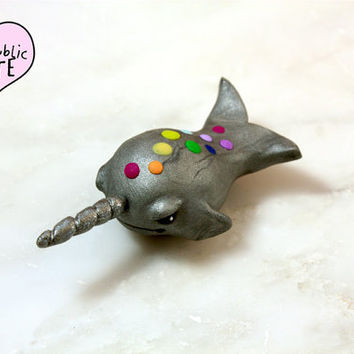 Rainbow Narwhal Offbeat Desk Accessory