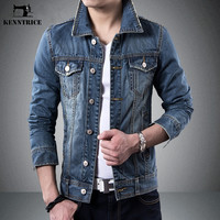 Spring Autumn Vintage Men's Denim Jacket Slim Fit Casual Jeans Jackets Denim Coats Long Sleeve