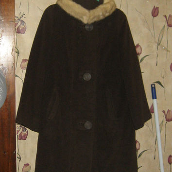 Best Wool Coat With Mink Collar Products on Wanelo