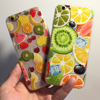 Summer Fruits iPhone 6 6S Plus Case Solid Cover + Nice Gift Box 446