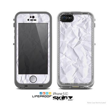 The Crumpled White Paper Skin for the Apple iPhone 5c LifeProof Case