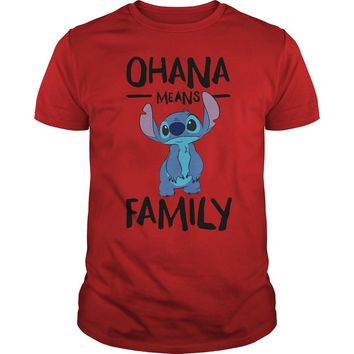 Stitch ohana means family Premium Fitted Guys Tee