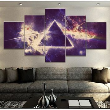 5 Pieces Pink Floyd Rock Music Painting Modular Pictures Home Decor Canvas Wall Art Posters Living Room Print Decor Photo No Fra