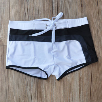 Cheap processing swimming trunks Summer tide trunks x swimming trunks breathable sexy trousers