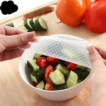 4pcs Multifunctional Reusable Silicone Food Wraps