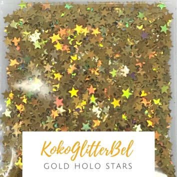 Holographic Stars-Gold