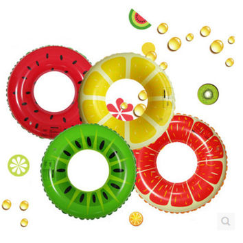 Fruit Style Watermelon Grapefruit Lemon Cartoon Adult /Child Thicken PVC Swimming Ring Floating Rings Inflatable Swiming Laps