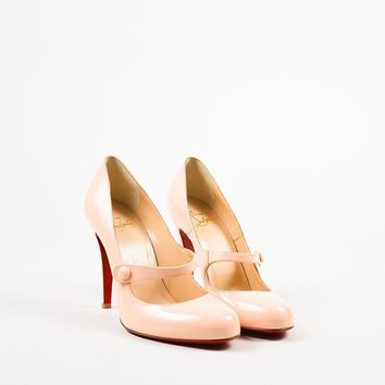 PEAP Christian Louboutin Blush Pink Patent Leather   Charleen 100   Pumps