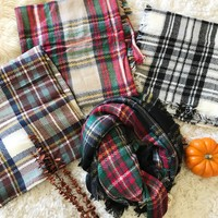 WILLOW BLANKET PLAID SCARF- MORE COLORS