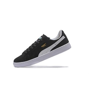 Best Deal Puma SUEDE CLASSIC+ Shoes Women Men Sneaker Black White