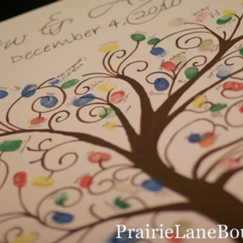 Fingerprint ,Tree,Guest Book, Canvas,Thumbprint Canvas, Wedding decor, Prairie Boutique, Personalized, Custom Canvas, Bridal Shower, Baby