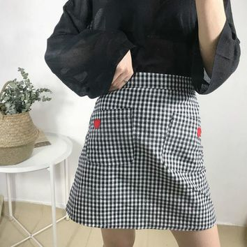 Harajuku Women Skirt Preppy Style Plaid Skirts Mini Cute School Uniforms Saia Faldas Ladies Jupe Kawaii Skirt SK8874