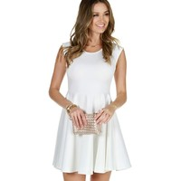Sale-white Summer In Love Skater Dress